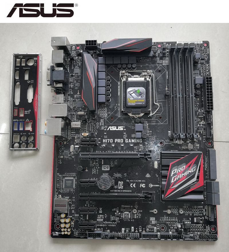 ASUS H170 PRO GAMING Desktop motherboard for intel H170 LGA1151 DDR4 Used mainboard PC on sales image