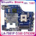 LA-7981P carte mère pour Lenovo G580 ordinateur portable carte mère GT635/GT630 PGA989 HM76 DDR3 100% travaux d'essai
