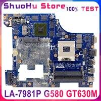 LA 7981P motherboard für Lenovo G580 notebook motherboard GT635/GT630 PGA989 HM76 DDR3 100% test arbeit-in Motherboards aus Computer und Büro bei