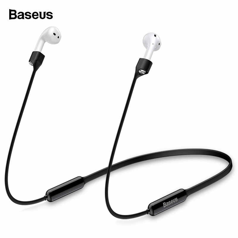 Baseus Magnetic Silicone Earphone Strap For Airpods 1 2 Neckband Anti Lost Strap Rope For Air Pods Cable Wire Holder Accessories