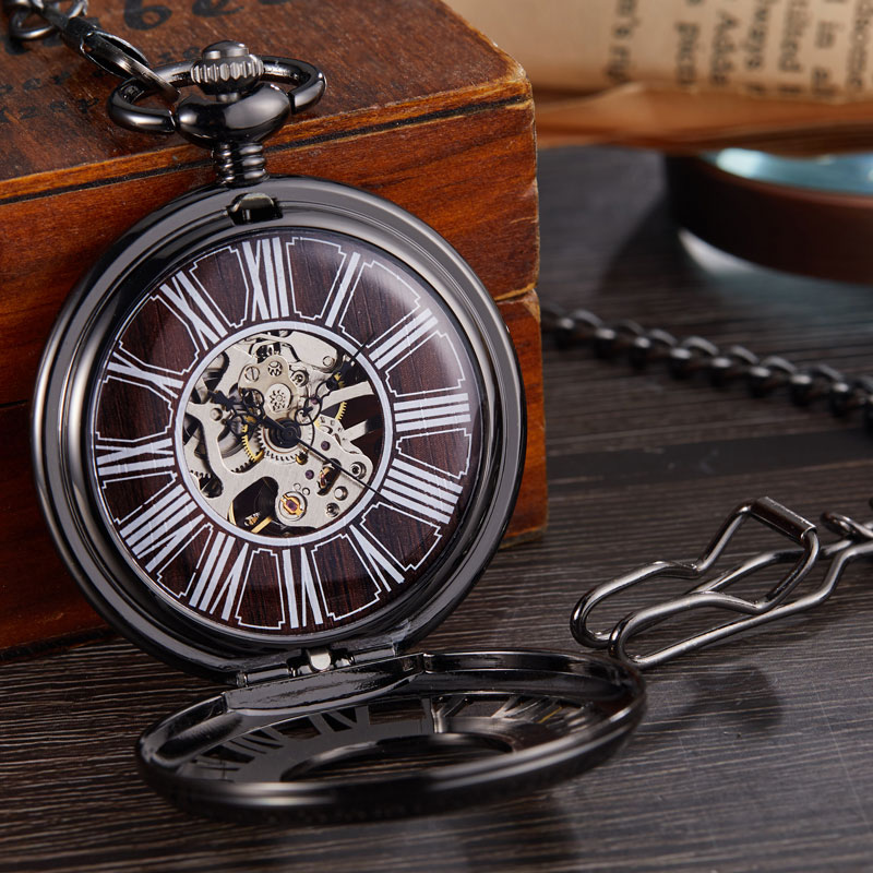 Cadeia Relógio de Bolso Algarismos Romanos Dos