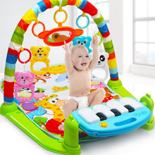 Children Fitness Rack Baby Gym Play Mat Infant Toys Piano Keyboard Mus