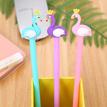 Creative stationery neutral pen cute learning office supplies water-based signature cartoon Flamingo