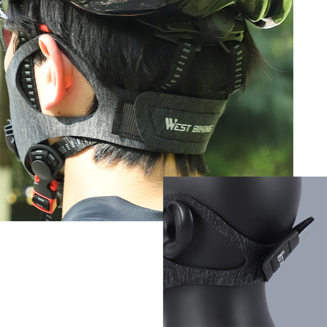 WEST BIKING Sports Cycling Face Mask PM2.5 Anti-pollution Activated Carbon Half Face Shield Washable Mask With Filter Men 3