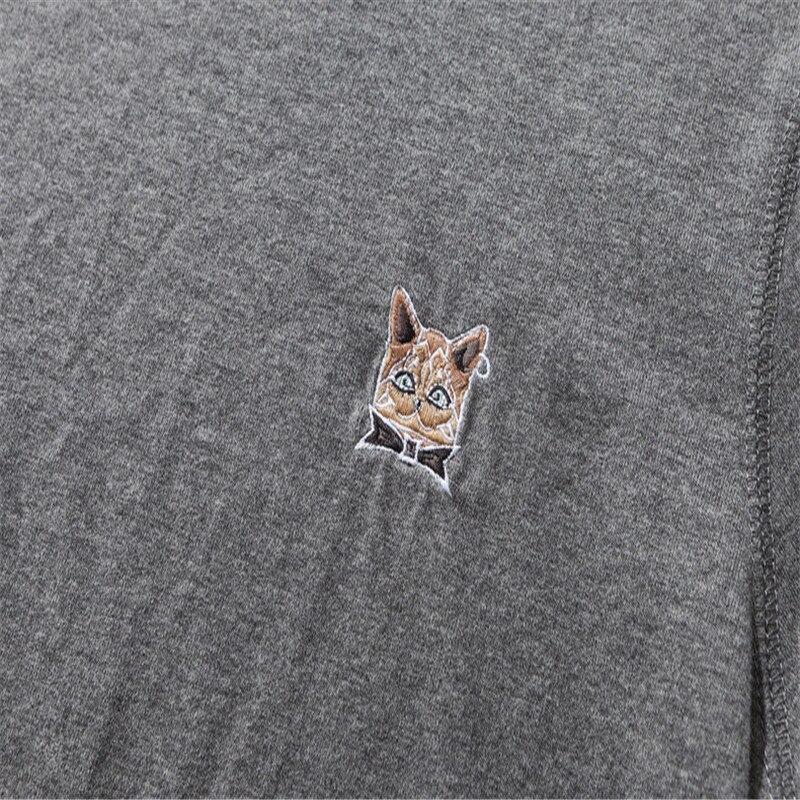 Voorjaar nieuwe mannen jeugd effen kleur ronde hals lange mouwen T shirt trend dieptepunt shirt