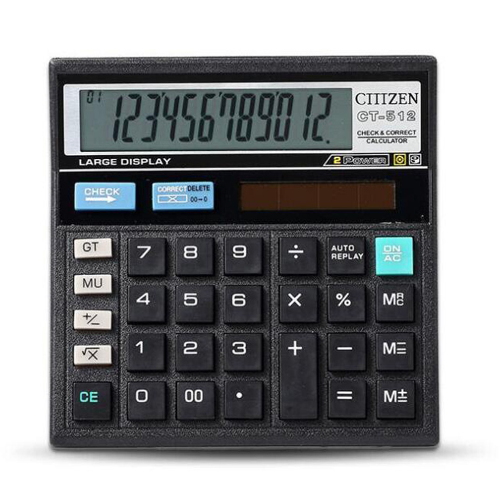 Calculator Economical Solar Dual Power Computer Office Home School Student Teaching Stationery Large Flat Calculating Tool