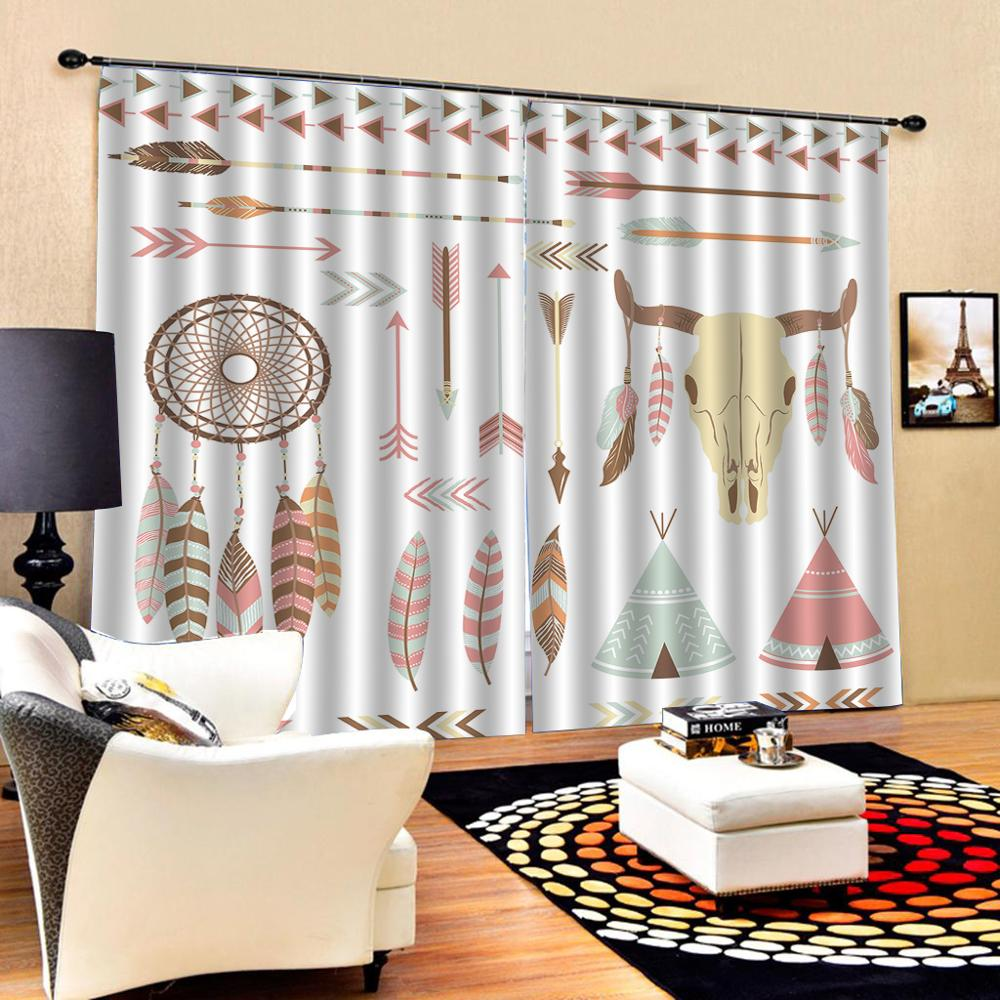 Customized size Luxury Blackout 3D Window Curtains For Living Room simple curtains stereoscopic curtains