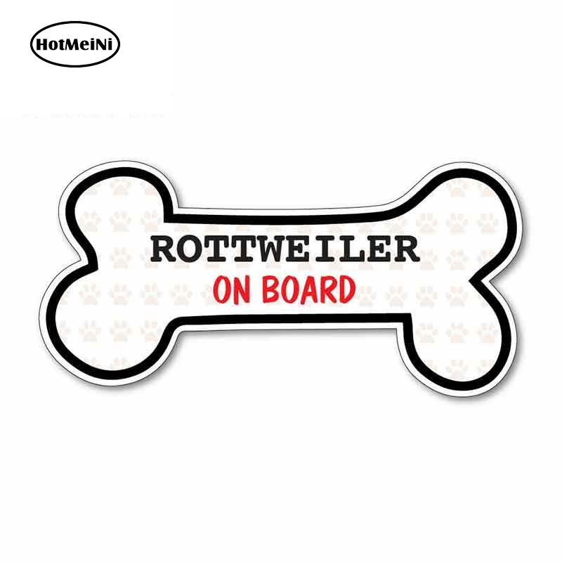 HotMeiNi 13cm x 6.7cm for Funny Dog Bone ROTTWEILER Funny Car Stickers Windshield Bumper Windows Vinyl JDM Accessories Decal