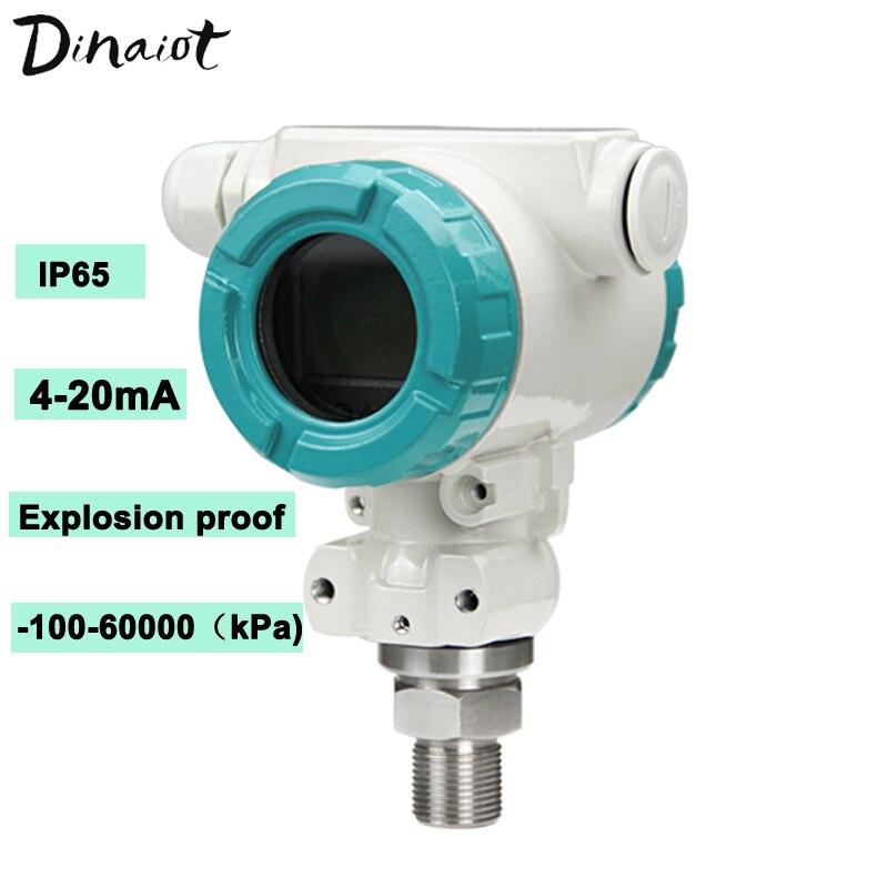 Explosion-Proof Pressure Transducer -100Kpa-60Mpa LCD Display Digital Pressure Sensor 4-20mA Gas Liquid Pressure Transmitter