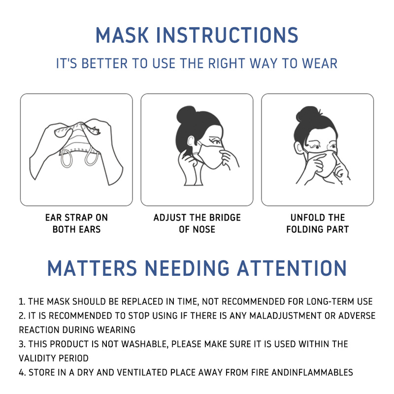 Image 5 - 10pcs KN95 Medical Masks 3 Layers Fine Air Filter Dust Face Mask  KN95 Personal Protect Home Health Care Mask In Stock