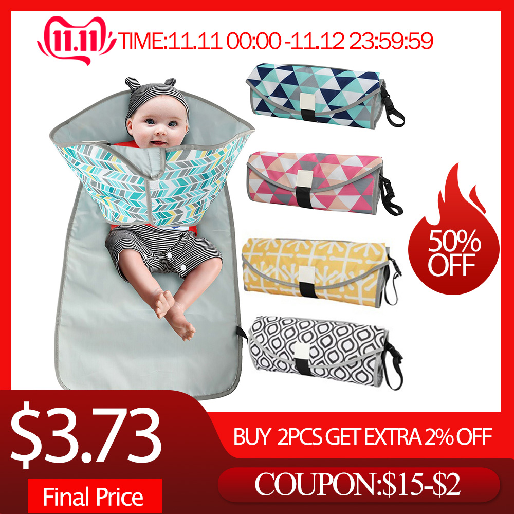 Waterproof Changing Pad Diaper Travel Multifuniction Portable Baby Diaper Cover Mat Clean Hand Folding Diaper Bag Baby Floor Mat
