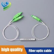Fiber Optic PLC1X2  Mini Fiber Optic Splitter Fiber Splitter Cable Length 1.5M SC/APC SingleMode