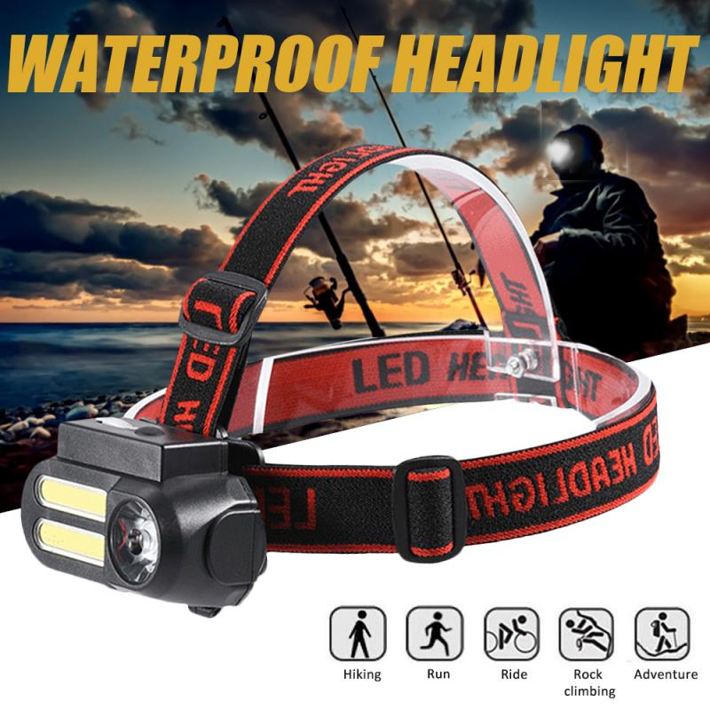 Head-mounted Lamp Bright <font><b>LED</b></font> Zoom Headlight USB Rechargeable <font><b>60000LM</b></font> Flashlight Outdoor Camping Night Hiking Night Riding image