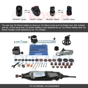 Image 4 - Newone Kit doutils rotatifs, Lithium Ion sans fil 12V, Mini perceuse électrique avec Six vitesses, réglable outil rotatif Dremel portable