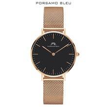 Porsamo Bleu, mouvement à quartz japonais, marque populaire, avec Daniel Wellington, montre pour femme