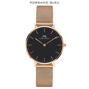 Image 1 - Porsamo Bleu reloj de mujer con movimiento de cuarzo japonés, popular, con Daniel Wellington