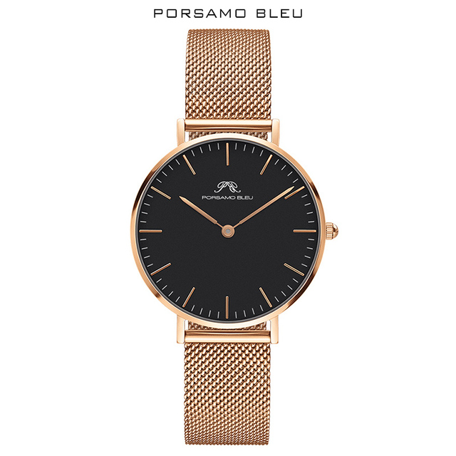 Porsamo Bleu العلامة التجارية الشعبية للمرأة اليابانية كوارتز ساعة نسائية مع دانيال ولينغتون