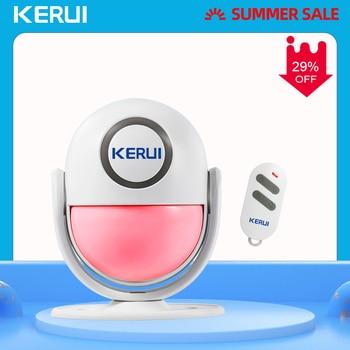 цена на KERUI 125dB WP6 PIR Motion Alarm Door Bell Home Security APP Control Burglar Sensor Detector Welcome Doorbell SOS Alarm Systems