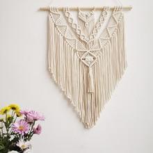 Tapestry Macrame Wall-Hanging Bohemian Bedroom-Decoration Tassel Woven Geometric Handmade