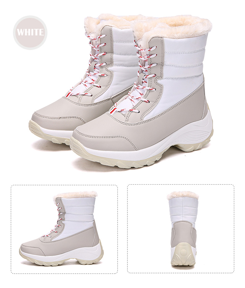 2019 Women Snow boots Waterproof Non-slip Parent-Child Winter Boots Thick Fur Platform Waterproof and Warm Shoes Plus Size 31-42 56