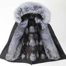 Мужская S-7XL куртка новая черная шуба из натурального меха большой Лисий меховой воротник с лисьим мехом теплая парка зимняя длинная куртка