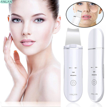 ANLAN Ultrasonic Skin Scrubber Peeling Vibration Blackhead Removal Exfoliating Pore Facial Clean Machine Recharge Skin Scrubber
