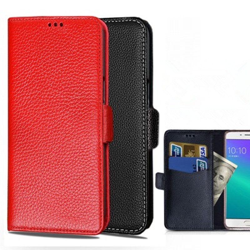 Genuine Leather Wallet Phone Case Card Slot Holder For <font><b>Samsung</b></font> Galaxy A9 Pro <font><b>A9100</b></font>/Galaxy C9 Pro C9100 Holster Phone Cover Stand image