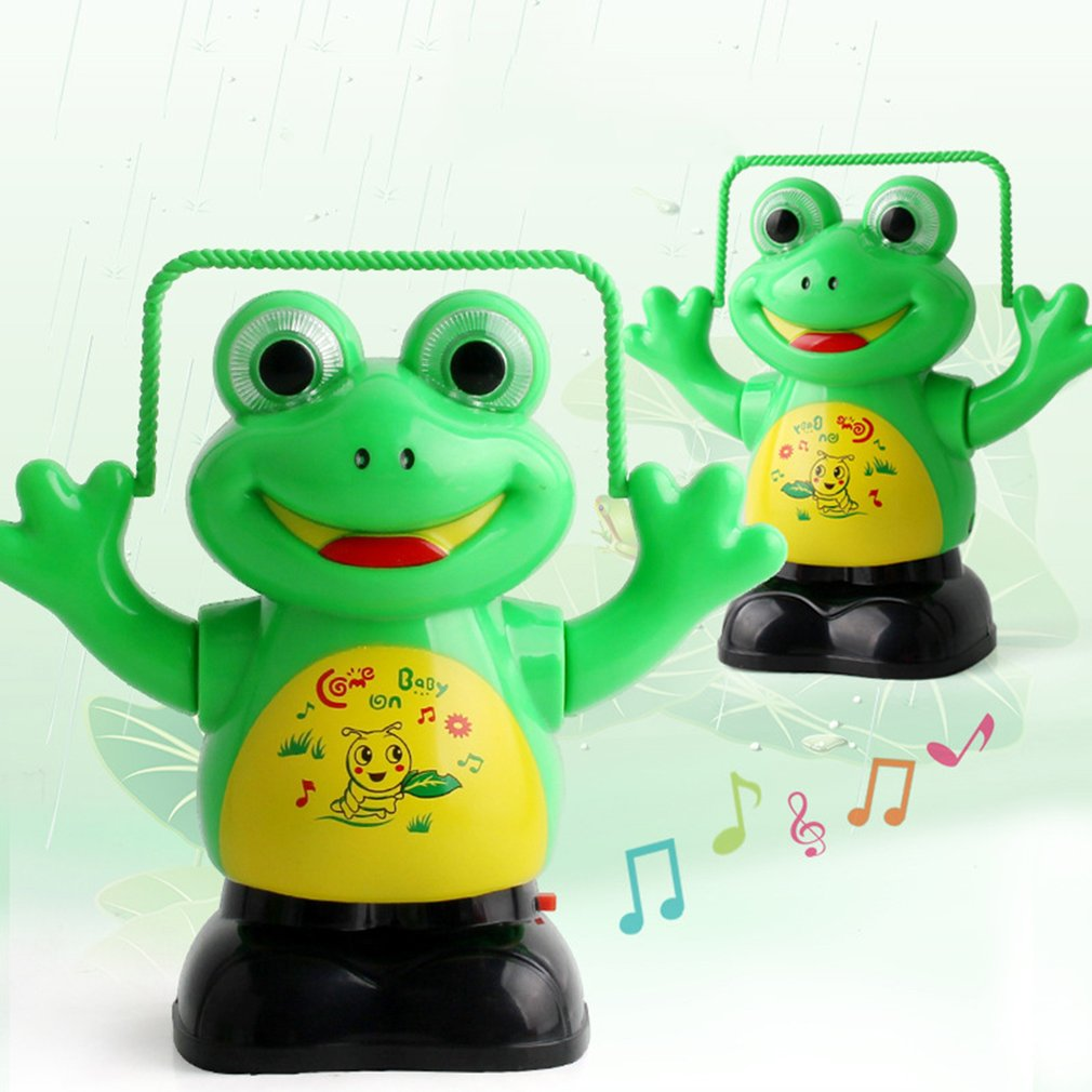 Electric Pet LED Flashing Lights Music Rope Skipping Frog Toys Parent Child Interaction Toys Intellectual Development HOT