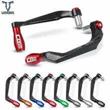 "7/8"" 22mm motorcycle Accessories motor CNC Aluminum Handlebar Grips Guard Brake Clutch Levers Guard Protector For Honda CB500"