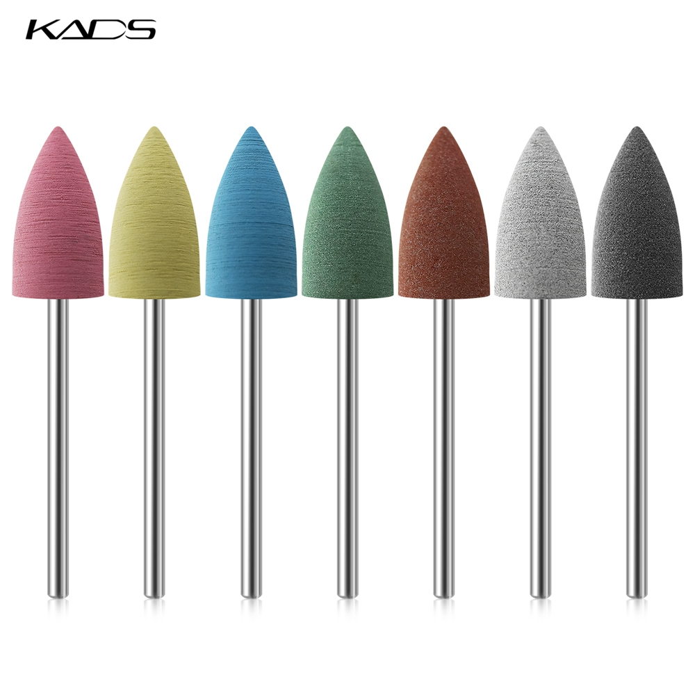 KADS Electric Nail File Rubber Nail Drill Bits Flexible Polisher Manicure Machine Alloy Nail Accessories Pedicure Tools