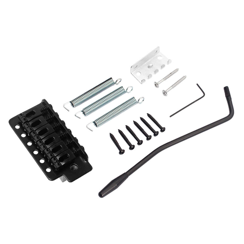 Left Handed Tremolo Bridges Black High Gloss Chrome Well Polished Surface