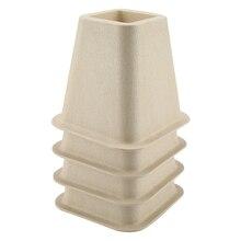 Имитация фарфоровые мебельные изюминки набор из 4 для кровати стояки стул, стол деревянный пол ноги протекторы мебель стояки
