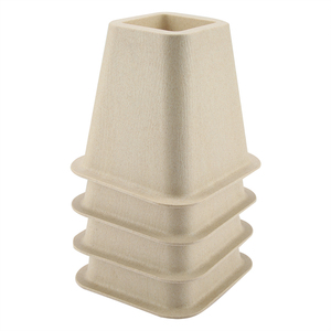 Image 1 - Imitation Porcelain Furniture Raisers Set of 4 For Bed Risers Chair Desk Table Wood Floor Feet Protectors Furniture Risers