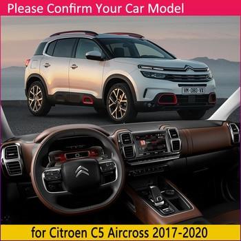 Untuk Citroen C5 Aircross 2017 2018 2019 2020 Anti-Slip Mat Dashboard Cover Pad Kerai Dashmat Aksesoris Mobil Karpet c5-Aircross