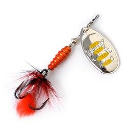 Металлическая рыболовная приманка FTK, приманка-Спиннер 8,5 г, 13 г, 15 г, приманки «ложка», жесткая приманка для окуня с пером, тройные Крючки, иск...