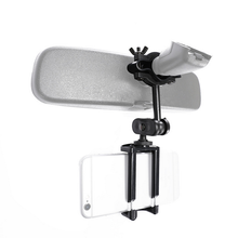 Universal Car Phone Holder Rear View Mirror Mount Stand Hold Adjustable For