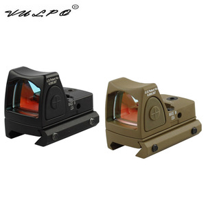 VULPO kırmızı nokta işareti tarzı kırmızı nokta görüşü için anahtarı ile 20mm Picatinny ray ile avcılık airsoft M4 AK G36 M1911 GLOCK ray