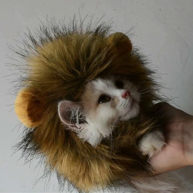 Kitten/Puppy Costume Lion Mane Wig  6