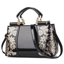 Bordado bolsa feminina bolsas de couro e bolsas bolsas de ombro de luxo bolsas femininas para mulher 2020