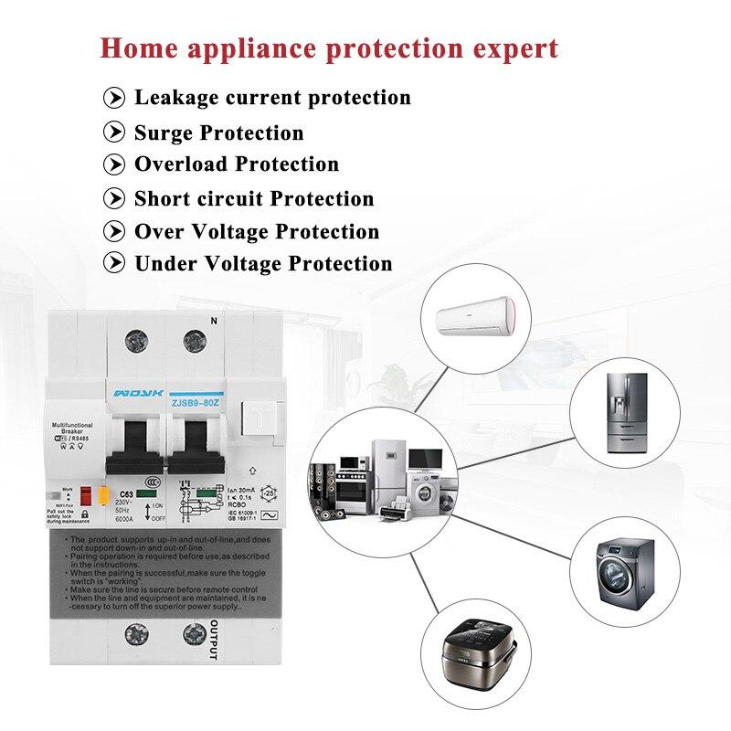 Бесплатная доставка DZ158 4 P 100A 4 полюсная большая мощность домашнего использования автоматический выключатель электрошок защита отечествен... - 3