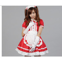 Sexy French Maid Costume Sweet Gothic Lolita Dress Anime Cosplay Sissy Maid Uniform Plus Size Halloween Costumes For Women(China)