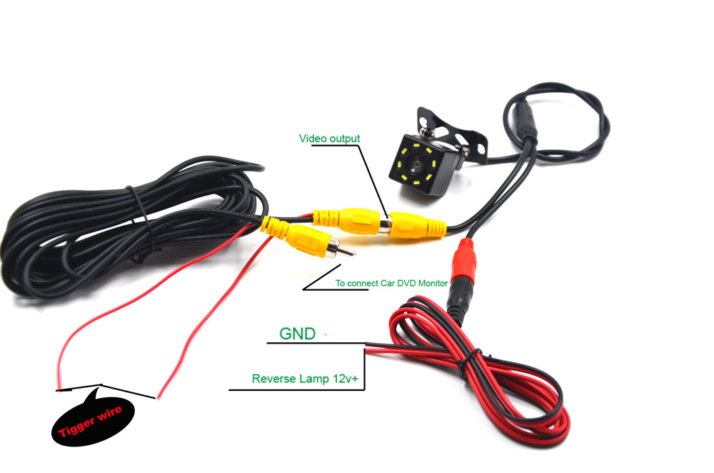 cheapest BYNCG Car Rear View Camera 8LED Night Vision Waterproof  Universal Backup Parking Camera  170 Wide Angle HD Color Image