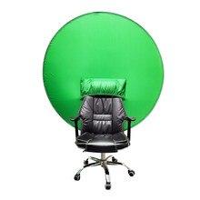 Azul/tela verde fotografia adereços portátil chroma chave fotos de fundo adequado para youtube video studio 19.69*3.94 * 0.59in