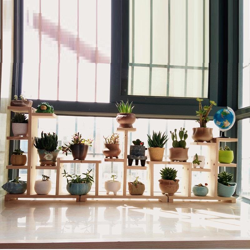 Wood Saksi Standi Suporte Flores Etagere Plante Rack Stand Living Room Balcony Flower Dekoration Stojak Na Kwiaty Plant Shelf