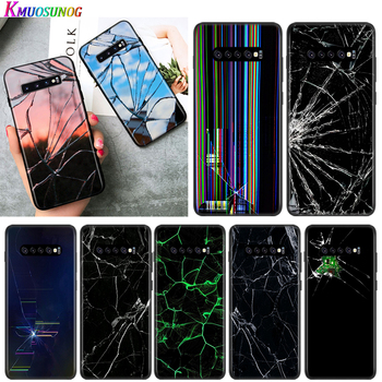 Craked screen For Samsung Galaxy Note 20 10 9 8 S30 S10 S10E S9 S8 S7 S6 Edge Ultra Plus Pro Lite Phone Case image