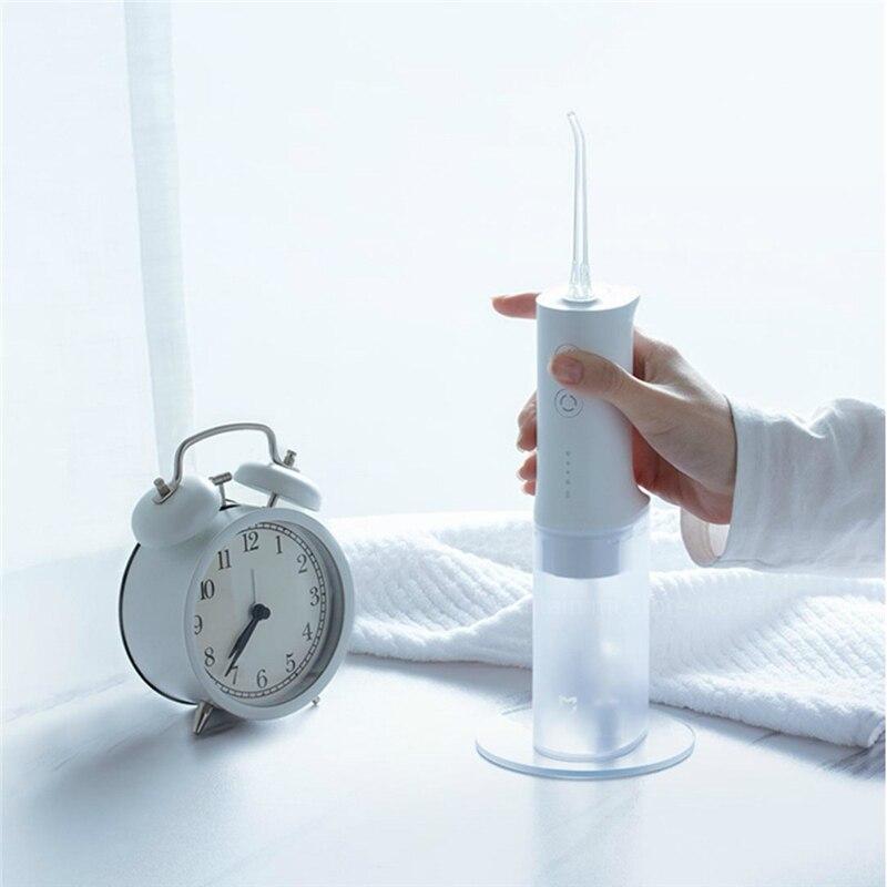 Neueste Mijia 200ml Elektrische Munddusche Wasser Flosser IPX7 Wasserdicht Wasser Zahnstocher Dental Pflege Vier Getriebe Modus für Persönliche