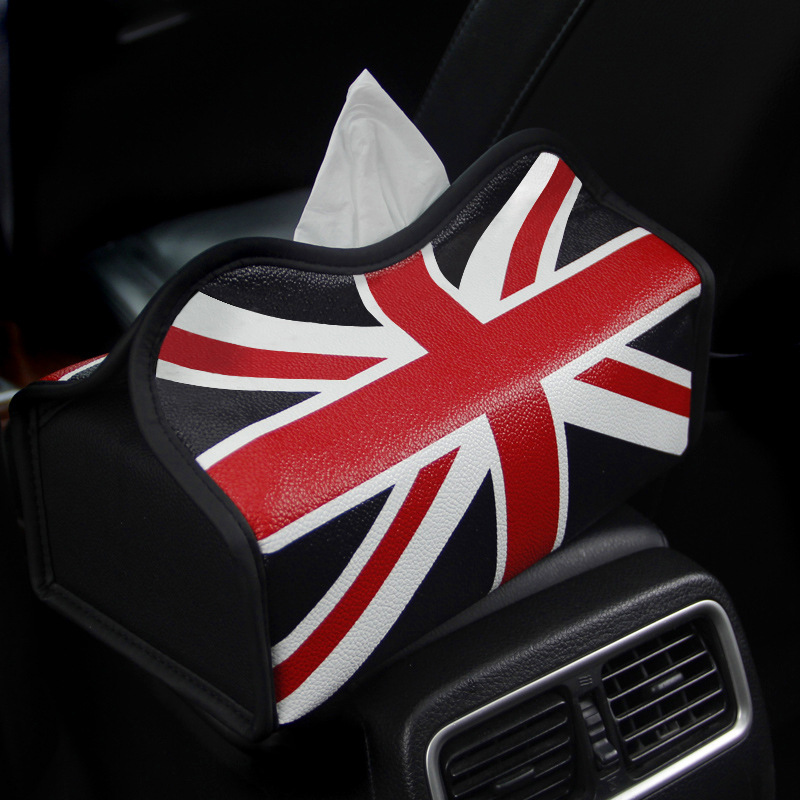 Manufacturers Direct Selling Car Mounted Support Customization Creative-Car Union Flag Tissue Box Multi-functional Accessories I