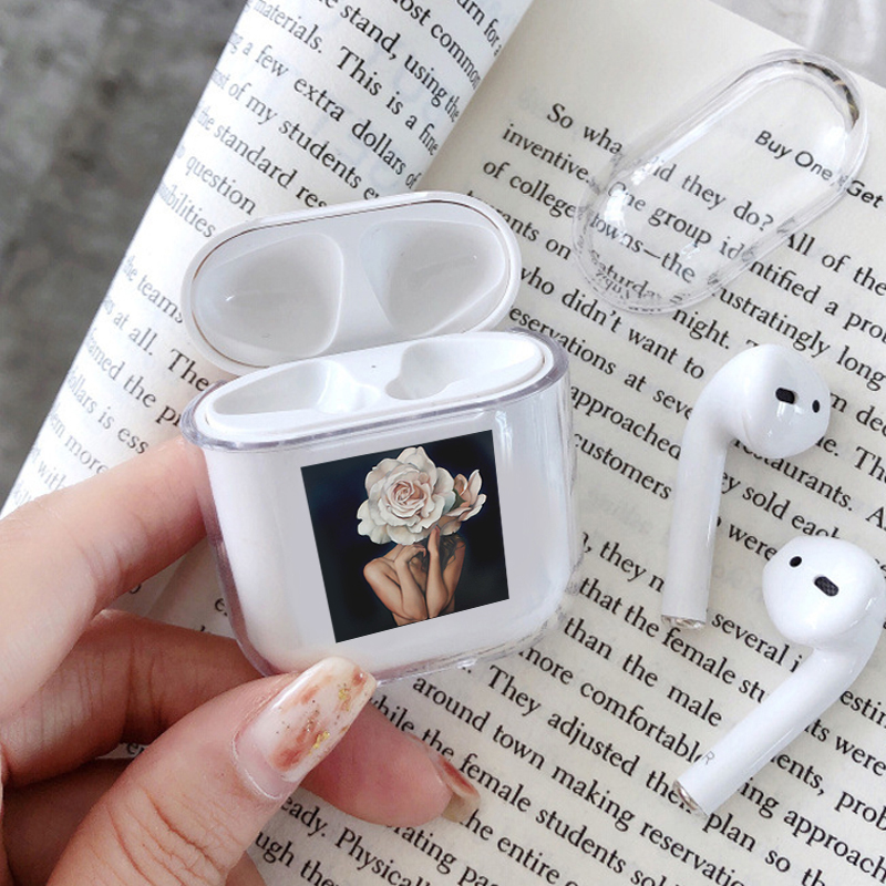 Flower Art Dating Case For Apple Airpods Case Soft Silicone Cover For Airpods 2 1 Case Accessories Headphone Air Pods Case Cover
