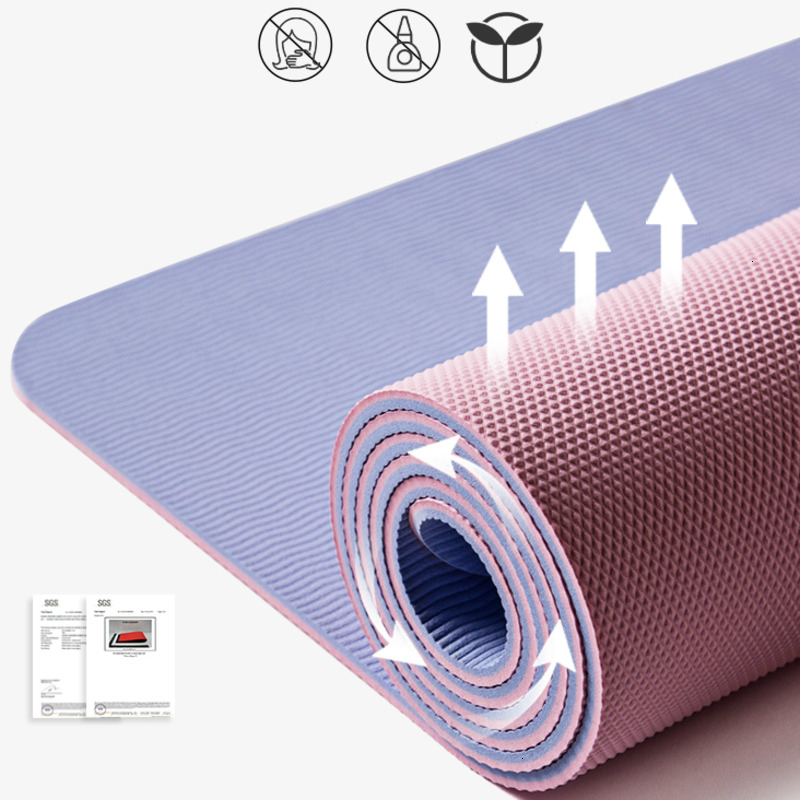 185*80cm Yoga Mat Widening Anti-slip TPE Yoga Tapete Fitness Mat Esterilla Pilates Dance Gymnastics Pad With Yoga Bag And Strap image