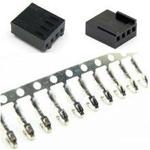 10/20/50 conjunto de alta qualidade 4 pinos 4pin pwm fan conector masculino com pinos terminais femininos-preto